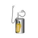 Комплект для откачки масла из бочки 205 л SAMOA 379504