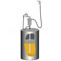 Комплект с насосом для консистентной смазки PumpMaster 3+3 для бочек 185 кг  SAMOA 429800