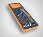 Набор комбинированных ключей с трещоткой и реверсом 7пр. CUSTOR PRO-6