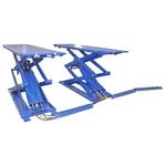Подъемник ножничный короткий г/п 3000 кг. напольный KraftWell KRW3FS_blue