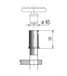 Проставки h=80 мм., 4 шт. для подъемников Ravaglioli серии К и LIK