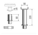 Проставки для рамных автомобилей h=220 мм., 2+2 шт. подъемников Ravaglioli серии К и LIK