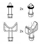 Упоры для Mercedes Sprinter, VW LT+Crafter, 4 шт. для подъемников Ravaglioli серии К и LIK