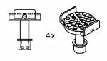 Упоры для рамных авто 4 шт. для подъемников Ravaglioli серии К и LIK