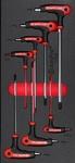 Набор 6-гранных отверток с Т-образной ручкой с шаром 2,5-8 мм, 7 пр. AmPro T22908
