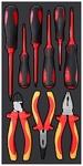 Набор отверток диэлектрических, губцевый инструмент 9 пр. AmPro T28474