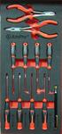 Набор инструмента (отвертки, крючки, плоскогубцы), 11 пр. AmPro T28743