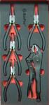 Набор съемников стопорных колец и зажим, 5 пр. AmPro T28944