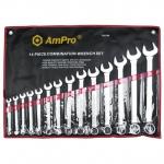 Набор ключей комбинированных 10-32мм, 14 пр. AmPro T40186