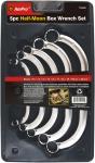 Набор ключей накидных Полумесяц 10-22мм, 5 пр. AmPro T42450
